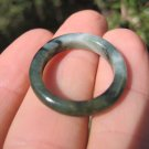 Natural  Jadeite Jade ring stone mineral carving  Size 6.75 US  A509