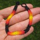 Huichol Bead Indian Bracelet Jewelry Art Hand Made Guadalajara Mexico A38