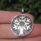 925 Silver Tree of Life Pendant Necklace Thailand Jewelry Art A30