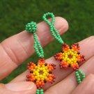 Huichol Bead Indian Necklace Jewelry Art Hand Made Guadalajara Mexico A19
