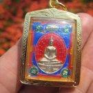Shakyamuni Buddha metal Thailand Buddhist amulet A16