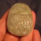 Natural  Jadeite Jade  Dragon pendant  Amulet stone carving  A45