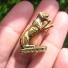 Brass Metal Lucky Tiger Amulet  Statue Buddhist Blessing A6