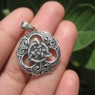 925 Silver Irish Trinity Celtic Knot Triquetra Pendant Necklace A12