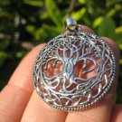 925 Silver tree of life pendant necklace Thailand jewelry art A2