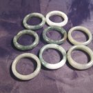 Set 8 ( lot ) Natural Jade ring Thailand jewelry stone art size 6.75 7 US