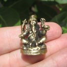 Brass Metal Ganesh Ganesh Elephant Statue Hindu Deity Destroyer of Obstacles A6