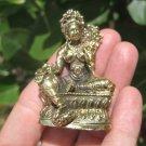 Green Tara Brass Statue Figure Buddhist  Himalayan Art A9