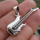 925 Silver electric guitar Pendant NecklaceThailand jewelry art