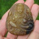 Natural Agate Carnelian Kuan Yin Guan Yin Avalokitesvara  Pendant Amulet A10