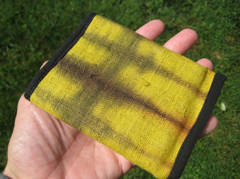 Hemp  tri fold Wallet tai dai hand made  from Thailand A6795