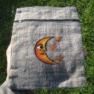 Hemp Moon and Stars Hand Bag Purse Thailand A4626