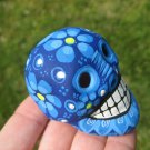 Small Hand Painted Ceramic Skull Cuernavaca Day of the Dead Mexico A3854