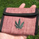 Hemp  Wallet Thailand Marijuana Leaf trifold  A6787
