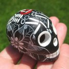 Small Hand Painted Ceramic Skull Cuernavaca Day of the Dead Mexico A3839