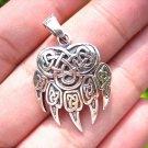 925 Silver Bear Claw Viking Celtic Pendant Thailand jewelry art EB4077