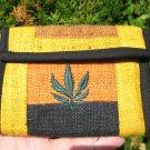 Natural Hemp Marijuana Leaf Wallet  Thailand A2793