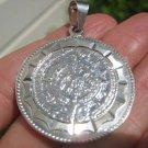 950 Mayan Calendar Pendant Necklace Taxco Mexico A8478