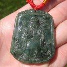 Natural Jadeite Jade Old Man Ruesi Monk Pendant Amulet Hanging Myanmar A25436