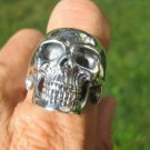 925 Silver Skull Ring Thailand Jewelry Art A3725