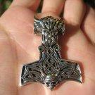 925 Silver Viking Mjolnir Mjolhner Odin Hammer of Thor Pendant A2358