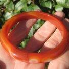 Red Agate Stone Bangle Bracelet Jewelry Art Thailand A30