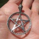 925 Silver Pentagram Pentacle Pendant  A2747