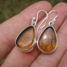 925 Silver Natural Chiapas  Amber Earrings Ear ring Taxco Mexico Jewelry Art A28