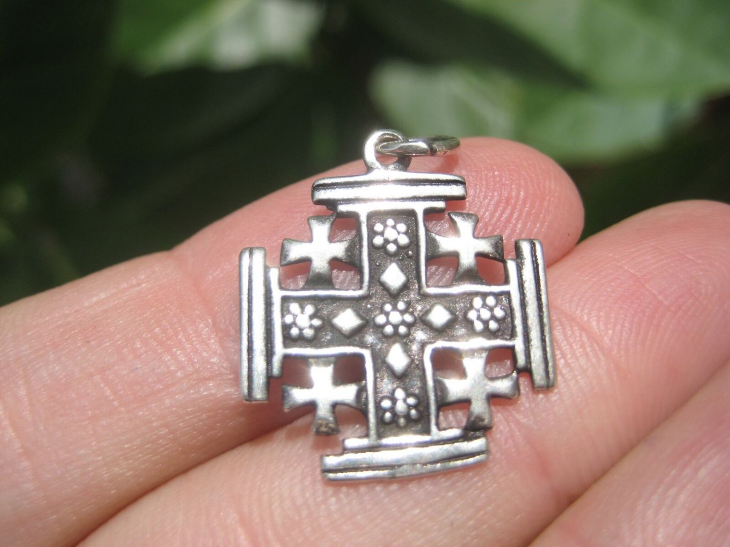 925 Sterling Silver  Fivefold Cross Crusaders Cross Medal A17