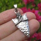 925 Silver Indian Arrowhead Spear Pendant Necklace jewelry Art A24