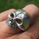 925 Silver Skull Ring Taxco Mexico A3676