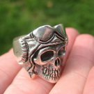 925 Silver Skull Ring Taxco Mexico 9.5 US A33415