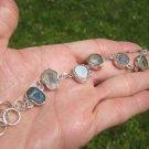 925 SilverAgate Geode Drusy Bracelet Tax co Mexico A2699
