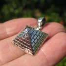 925 silver  Egyptian Pyramid  pendant necklace  A16