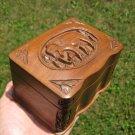 Rose Wood Elephant Jewelry Box or Card Deck Box Nepal A2743