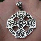 925 Silver Knights Templar Cross Celtic Cross Star Pendant Necklace A3844