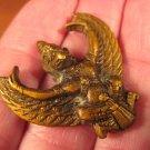 Brass Metal Garuda Bird Buddhist Hindu Statue Snake Bite Protection A713