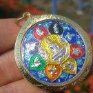 Shakyamuni Buddha metal Thailand Buddhist amulet A22