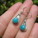 925 Silver Turquoise Earrings ( earring ) Nepal Jewelry art