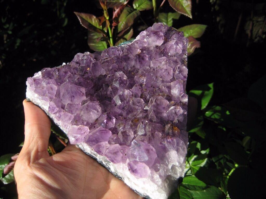 Large Natural Amethyst quartz stone cluster Mineral specimen  A44