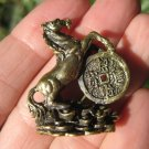 Brass Metal Horse Thailand Amulet Statue Chinese Lucky Horse A646