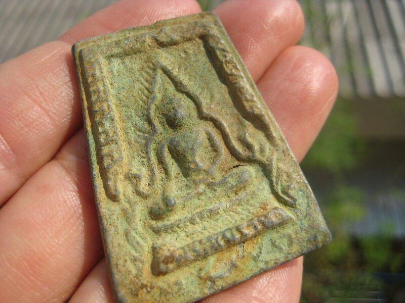 Shakyamuni Buddha good luck amulet talisman Thailand A46