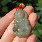 Natural Kuan Yin Jade Pendant Necklace Thailand Jewelry Art A26
