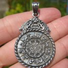 925  Silver Wheel OF Life Zodiac Pendant Nepal Himalayan Art A22