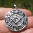 925 Silver Free Mason Masonic Zodiac Calendar  Pendant Necklace Art A17