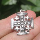 925 Sterling Silver Fivefold Cross Crusaders Cross Medal A18