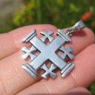925 Silver Jerusalem Cross Five Fold Cross  A40