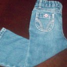 Girls Jeans Size 18 or 24 Months with pink buttons EUC