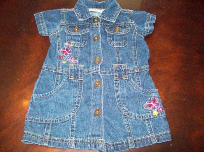 Carter's denim/jean Dress Size 6/9 Months