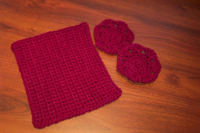 Cotton Wash Cloth and Scrubbies Set